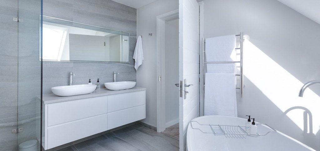 salle de bain mirroir - Curtet decor